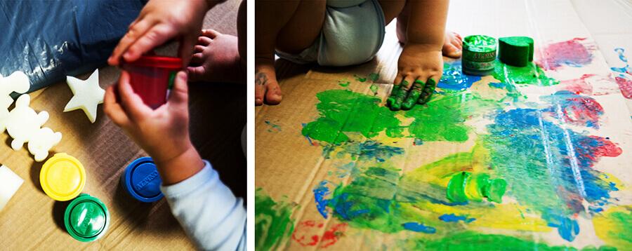 bodypainting malowanie palcami