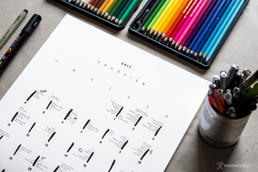 pozytywny kalendarz